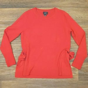 100% Cashmere Red Halogen Sweater sz Small